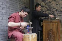 Złotnik w Chengdu mieście, Chiny obrazy royalty free