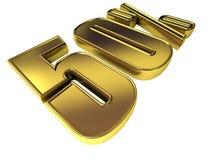 złoto 50 procentów Zdjęcie Royalty Free