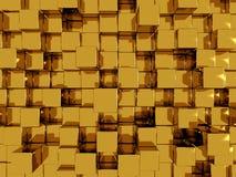 złoto abstrakcjonistyczna tapeta royalty ilustracja