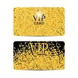 Złoto błyska na czarnym tle Złota VIP karta royalty ilustracja