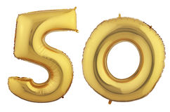 Złoto balon Pięćdziesiąt Obrazy Royalty Free