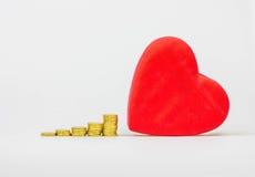 Złoto colour miłość Obrazy Stock