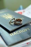 złoto dzwoni ślub Obraz Stock
