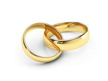 złoto dzwoni ślub Obraz Royalty Free