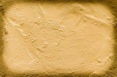 Złoto gipsujący ścienny tło Obraz Royalty Free
