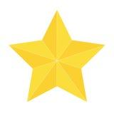 Złoto gwiazdowa ikona odizolowywająca Zdjęcie Stock