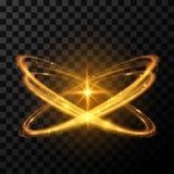 Złoto gwiazdowy lekki skutek Fotografia Royalty Free