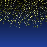 Złoto gwiazdowy wektor Połysk confetti wzór Spada Złote gwiazdy prosty ciemny tło EPS10 royalty ilustracja
