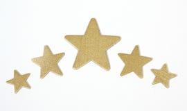 Złoto gwiazdy obraz stock
