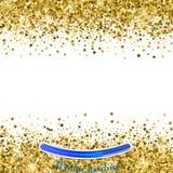 Złoto gwiazdy na białym tle Wektorowy iilustration Złoty st Fotografia Stock