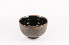 Złoto i czerń barwimy ceramiczną porcelanę Obrazy Stock
