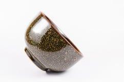 Złoto i czerń barwimy ceramiczną porcelanę Zdjęcie Royalty Free
