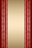Złoto i czerwony ornamentacyjny tło Obrazy Royalty Free