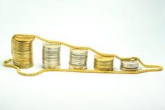 Złoto i pieniądze obrazy stock