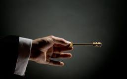 złoto klucz Zdjęcia Stock