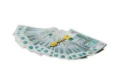 Złoto klucz pieniądze Obraz Stock