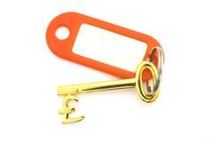 złoto klucza funty etykiety zdjęcie royalty free