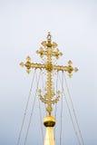 Złoto krzyż środkowa kopuła katedra Assumptio Zdjęcie Royalty Free