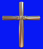 Złoto krzyż Obrazy Royalty Free