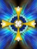 Złoto krzyż zdjęcia stock