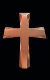 Złoto krzyż Fotografia Royalty Free