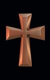 Złoto krzyż Obraz Stock