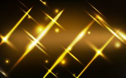 Złoto lekkiego rozjarzonego skutka neonowy tło, świętowanie, boże narodzenia, zima sezon, gwiazd cząsteczek błyszczący festiwal,  ilustracji