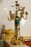 Złoto matrycował świeczka właściciela od ekspozyci stan Hermi Fotografia Royalty Free