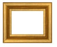 Złoto matrycująca drewniana rama fotografia royalty free