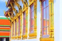 Złoto matrycujący Windows Tajlandia Obraz Stock