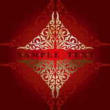 złoto ozdobny banner Fotografia Royalty Free