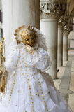 złoto piękna maska Obraz Stock