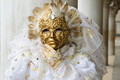 złoto piękna maska Zdjęcia Stock