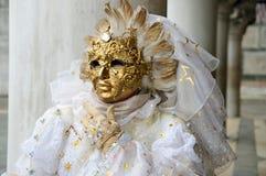 złoto piękna maska Zdjęcie Royalty Free