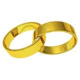 Złoto pierścionek Obrazy Royalty Free