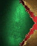 Złoto rama z czerwonym ornamentem na zielonym tle Element dla projekta Szablon dla projekta odbitkowa przestrzeń dla reklamy anno Fotografia Royalty Free