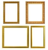 Złoto ramowy Elegancki rocznik Odizolowywający na białym tle Fotografia Stock