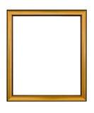 Złoto ramowy Elegancki rocznik Odizolowywający na białym tle Zdjęcie Stock