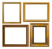 Złoto ramowy Elegancki rocznik Odizolowywający na białym tle Obraz Stock