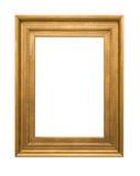 Złoto ramowy Elegancki rocznik Odizolowywający na białym tle Zdjęcie Royalty Free