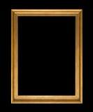 Złoto ramowy Elegancki rocznik Odizolowywający na czarnym tle Zdjęcie Stock