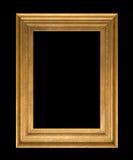 Złoto ramowy Elegancki rocznik Odizolowywający na czarnym tle Fotografia Stock