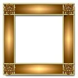 złoto ramowy miedzi Fotografia Royalty Free