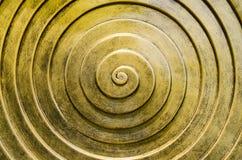Złoto spirala zdjęcia stock