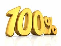 złoto sto procentów ilustracja wektor