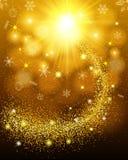 złoto tła abstrakcyjne gwiazdowego Lola up i crumbly ogonu iskrzaści cekiny Projektuje szablonu zaproszenie, wakacje, nowy rok, C Obraz Stock