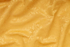 Złoto tekstury adamaszkowy kwiecisty falisty tło Zdjęcie Stock