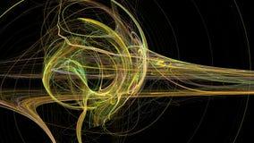 Złoto wygina się abstrakcjonistycznego 3d tło i macha Obraz Stock