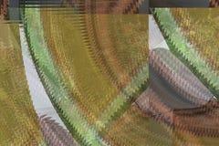 Złoto zieleń ruszać się po spirali i wygina się Obraz Royalty Free