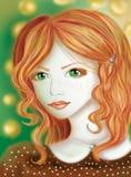złotowłosy czerwone dziewczyny Obrazy Stock